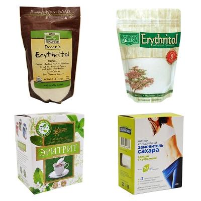 Различные упаковки Эритритола