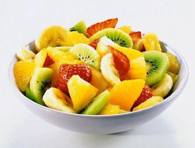фрукты на тарелке