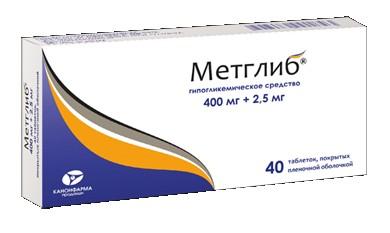 Таблетки Метглиб для диабетиков