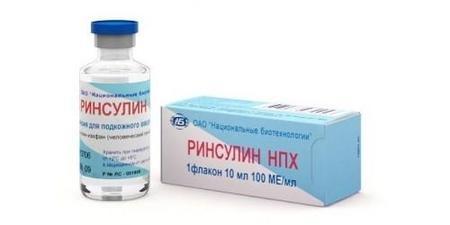 Инсулин и шприц-ручка Ринсулин НПХ и Р